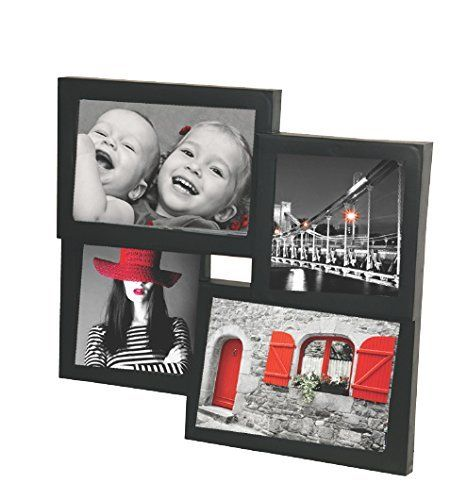 "Picture frame, ""Little"" in pvc wood effect, black, 4 places for photo, cm 28x26"