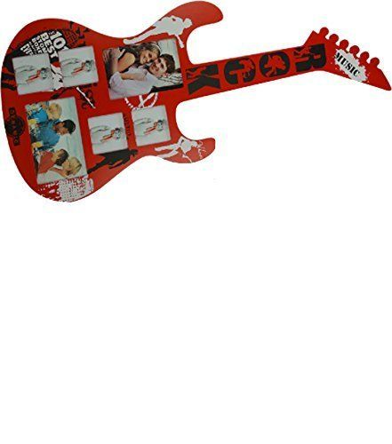 "Picture frame 5 seats ""Guitar"", red color, 74x33 cm - in wood"