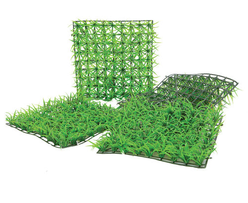 Artificial grass tile, for shop window decoration and home, 25x25 cm
